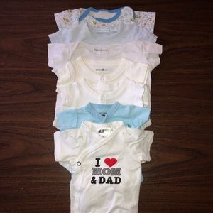 Baby boy clothes - NB to 3m - Lot 1 - Onesies